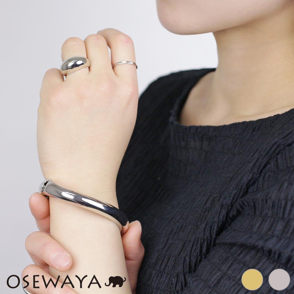 Chunky Metal Twisted Bangle - Osewaya