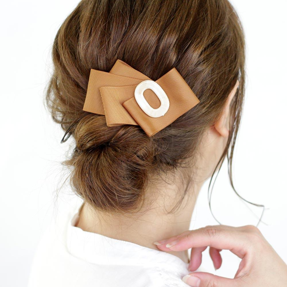 Wide Grossgrain Ribbon Hair Clip - Osewaya