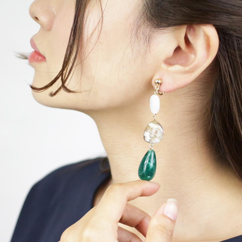 Vivid Acrylic Drop Clip On Earrings