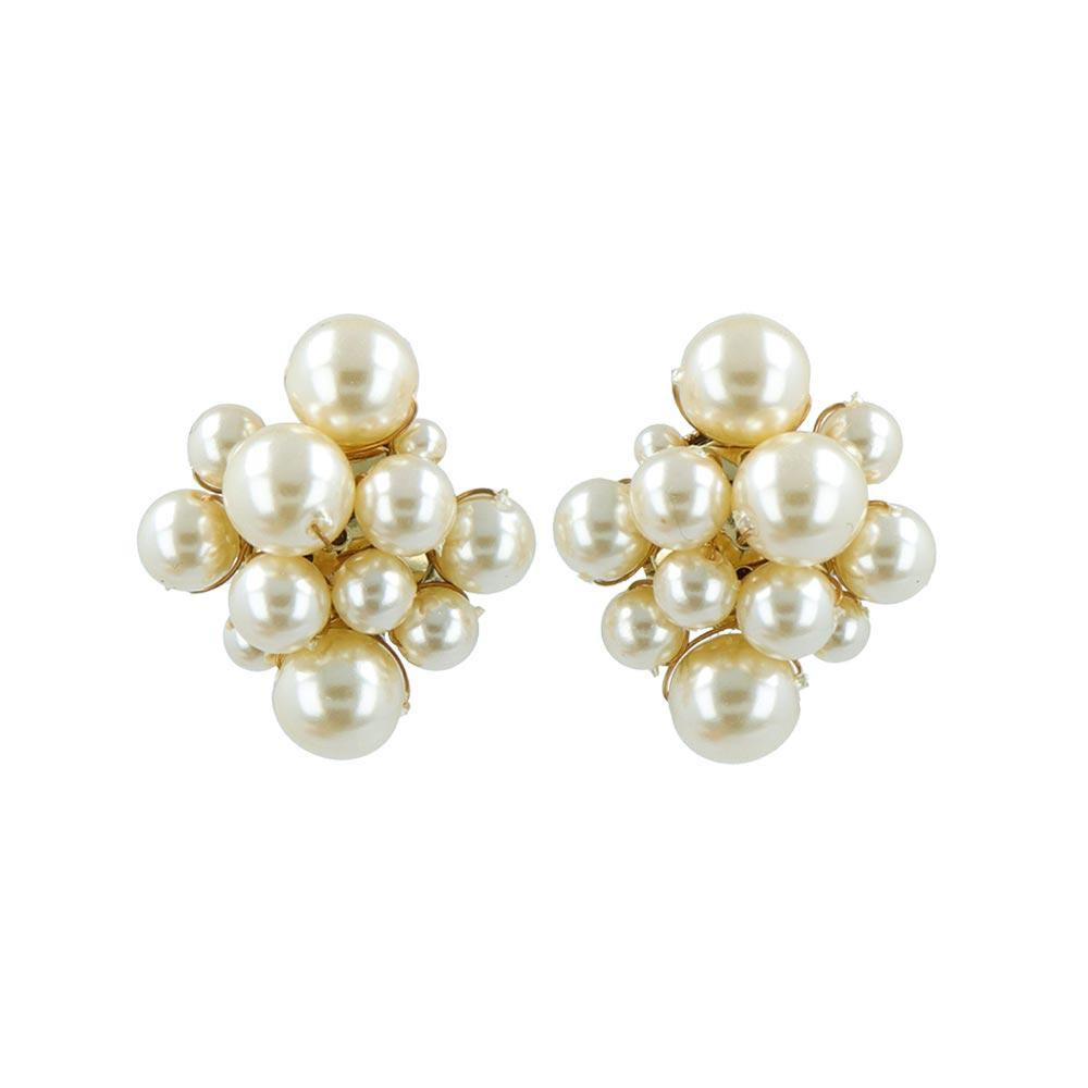 Bubble Pearl Clip On Earrings - Osewaya