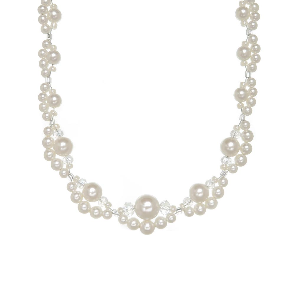 Bubble Pearl Magnet Clasp Necklace - Osewaya