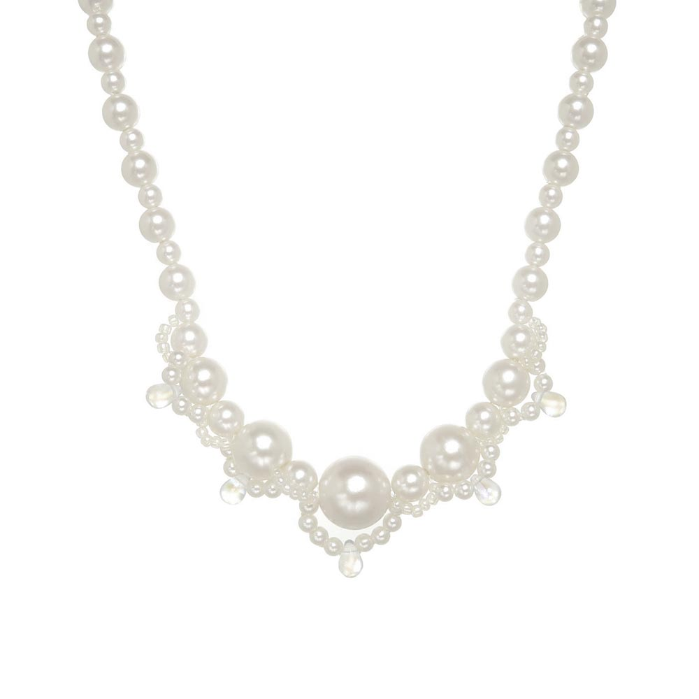 Decorative Pearl Magnet Clasp Necklace - Osewaya