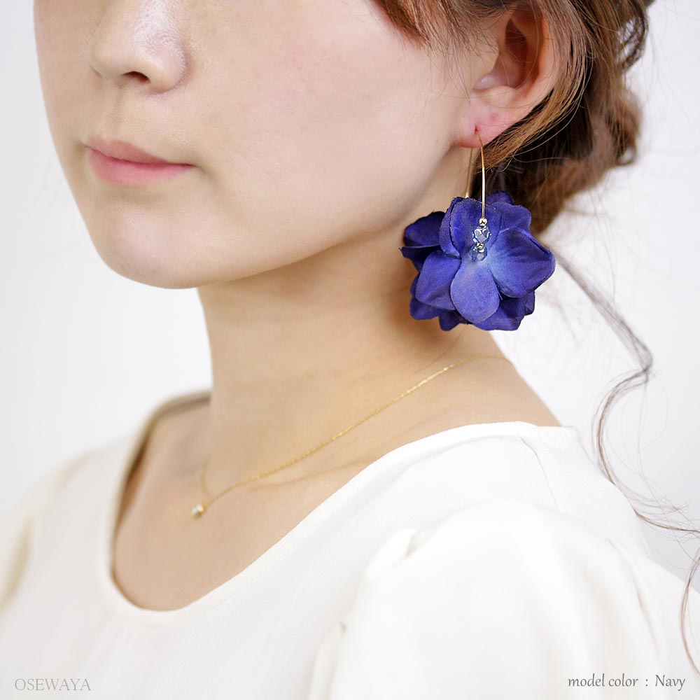 Colorful Flower Petal Hoop Earrings - Osewaya