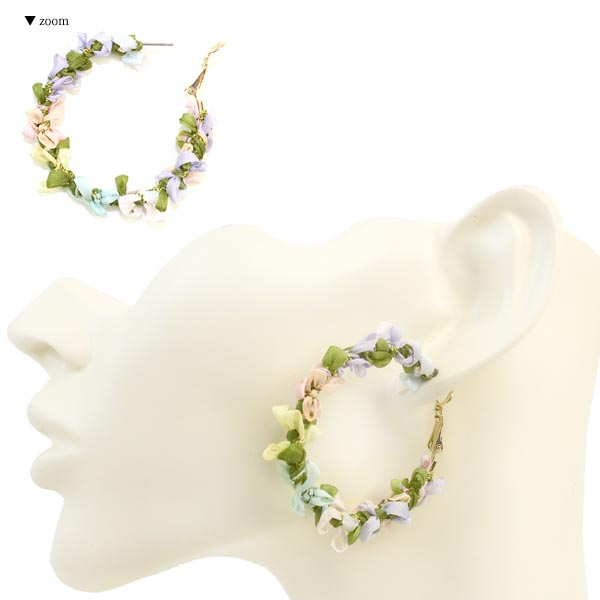 Ribbon Wreath Earrings