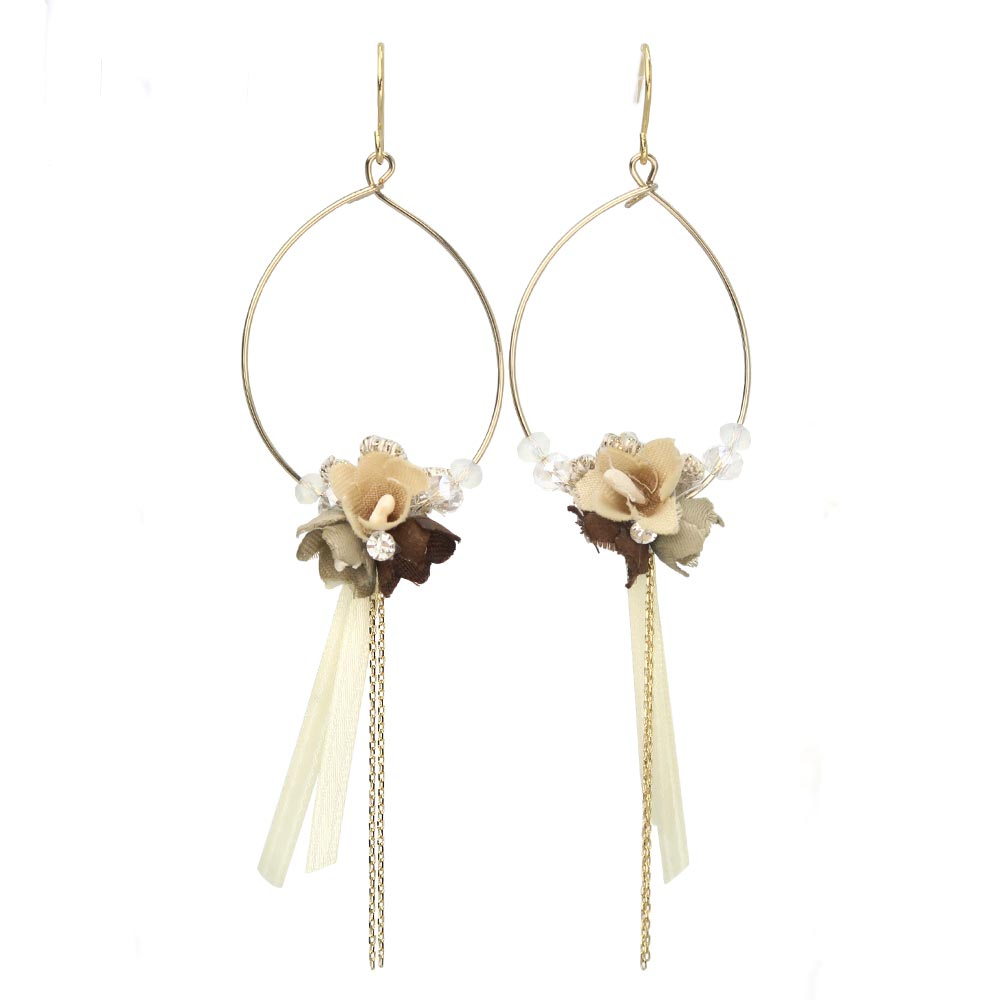Bow Bouquet Hoop Girlish Earrings - osewaya