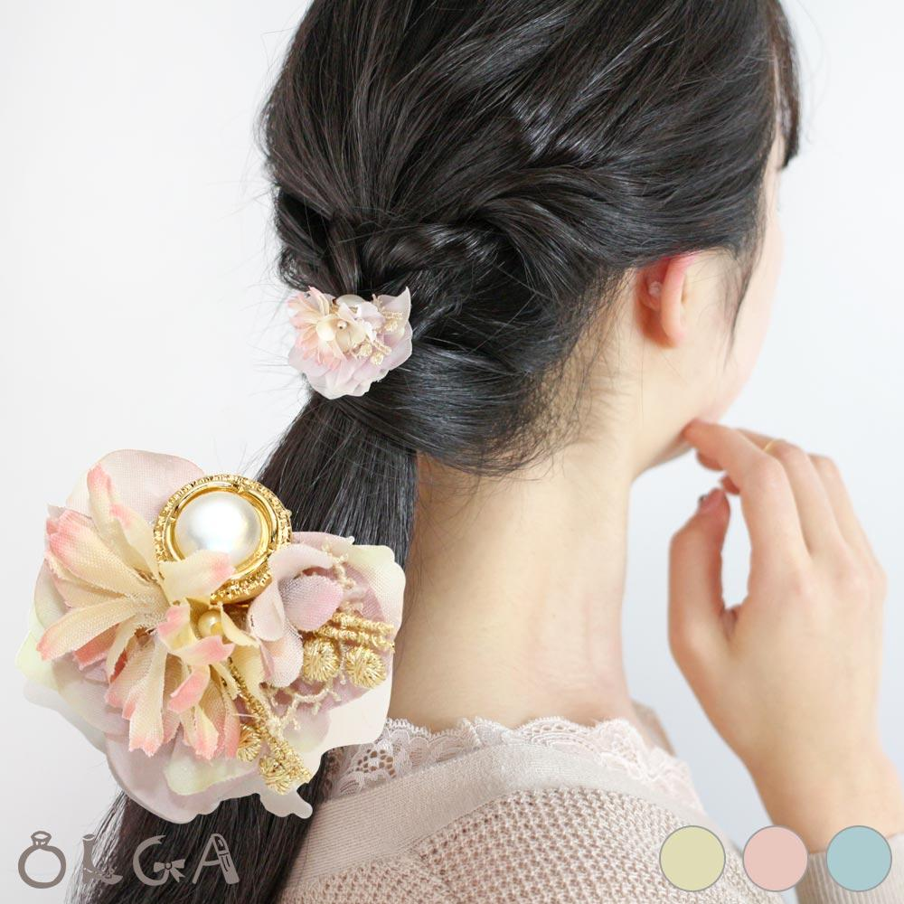 osewaya - Pearl and Bouquet Hair Hook - OLGA - Hair Accessory