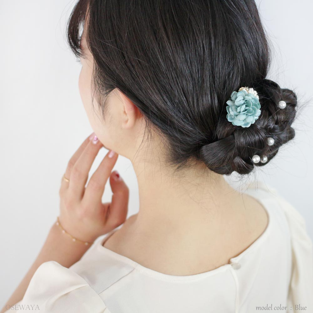 osewaya - Pastel Bouquet Hair Hook - OLGA - Hair Accessory