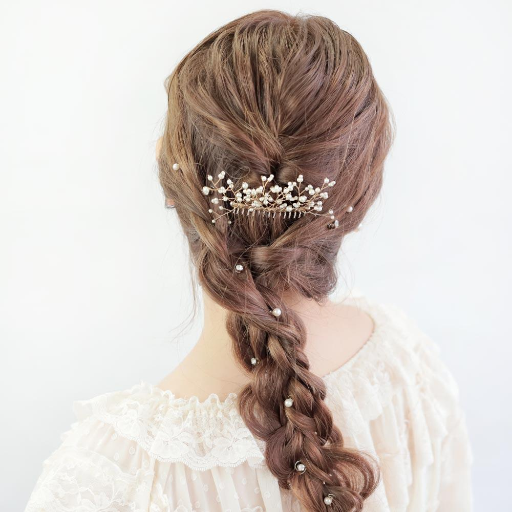Blooming Pearl Wedding Comb - Osewaya