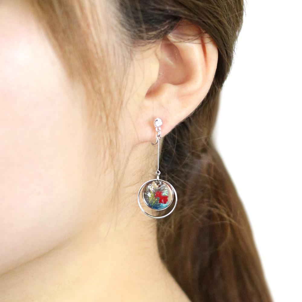 Cool and Refleshing Goldfish Tank Invisible Clip On Earrings