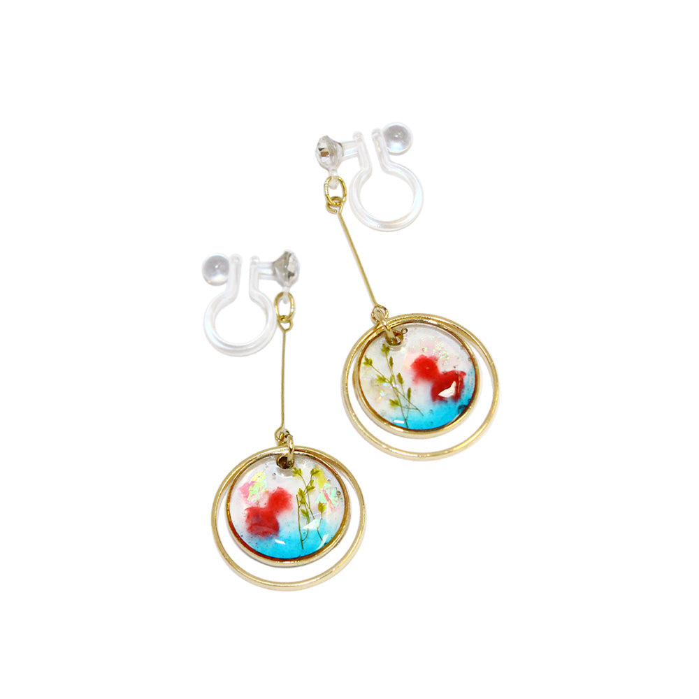 Goldfish Tank Invisible Clip On Earrings