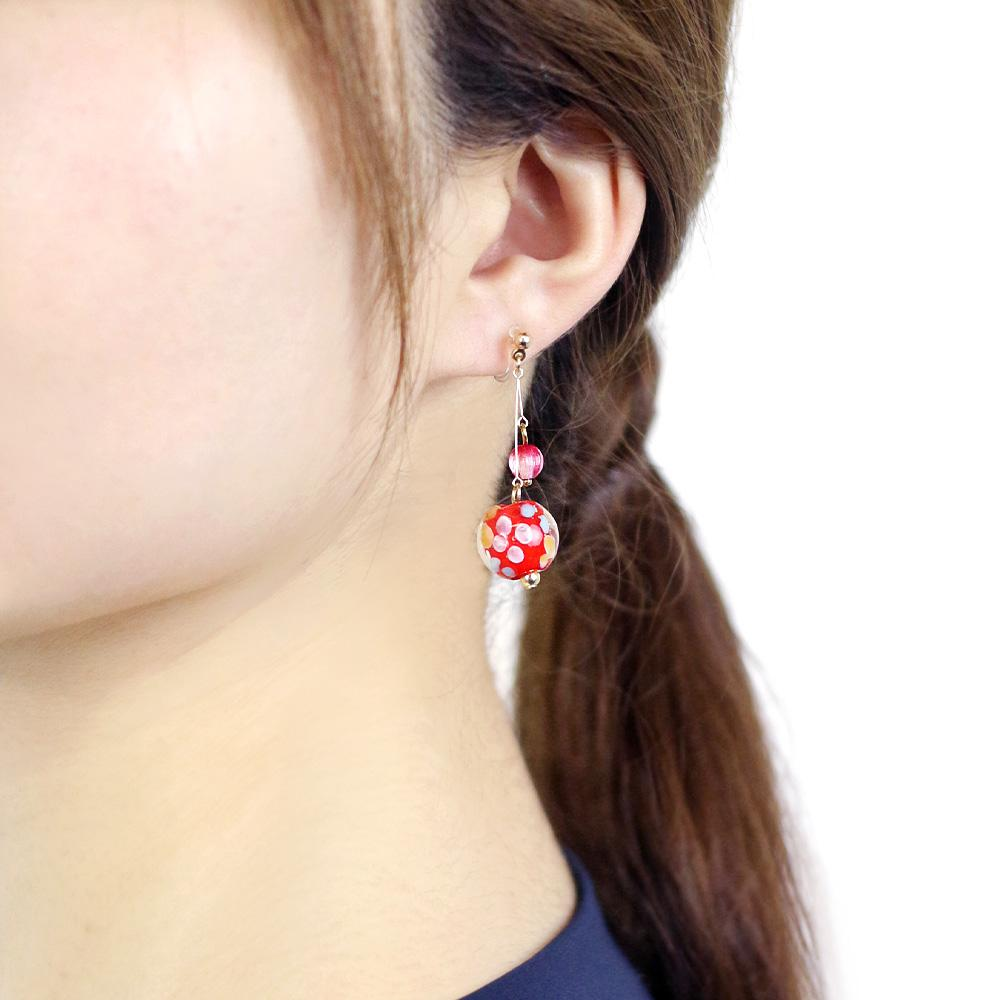 Japan Decoration Beads Invisible Clip On Earrings - Osewaya