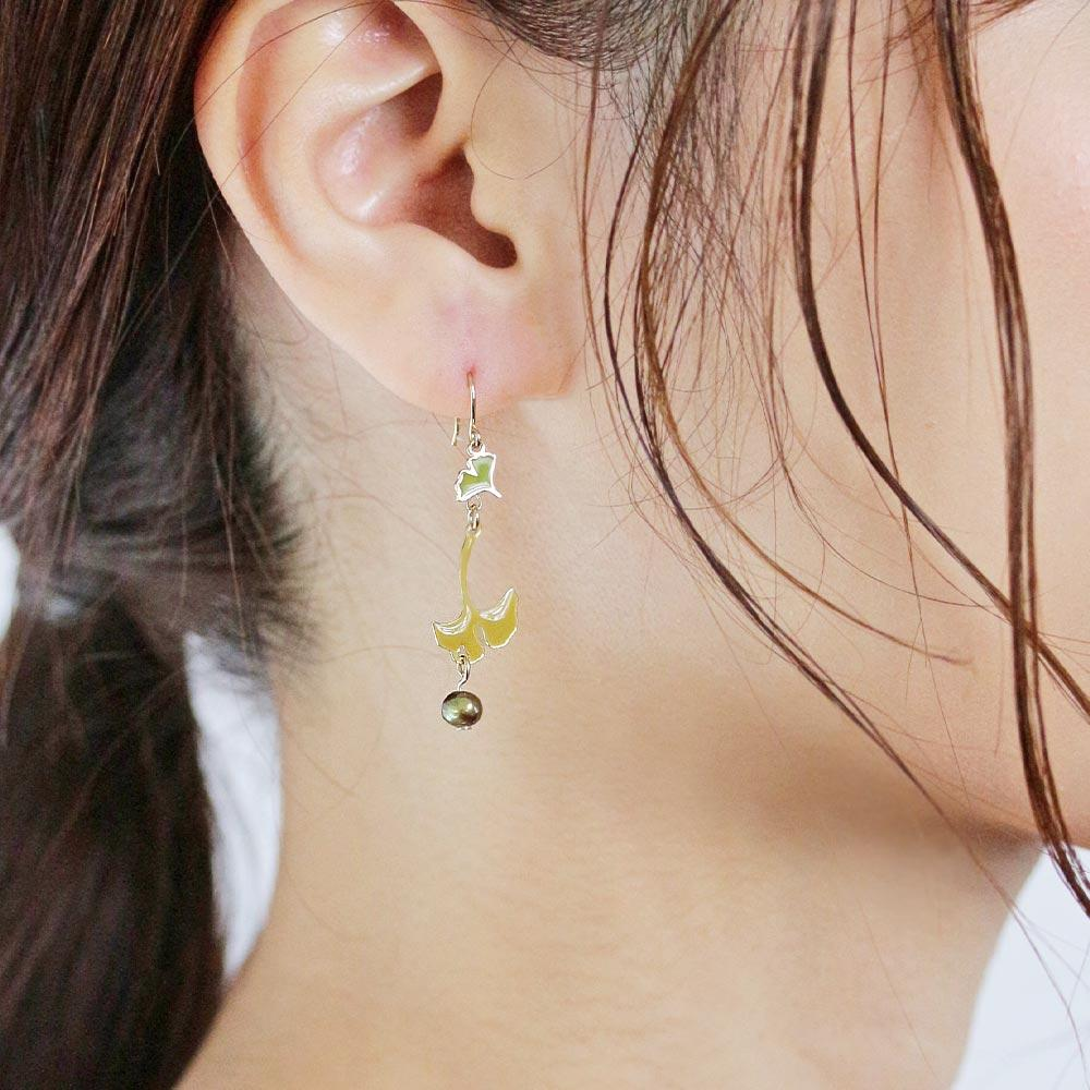 Ginkgo Drop Earrings - Osewaya