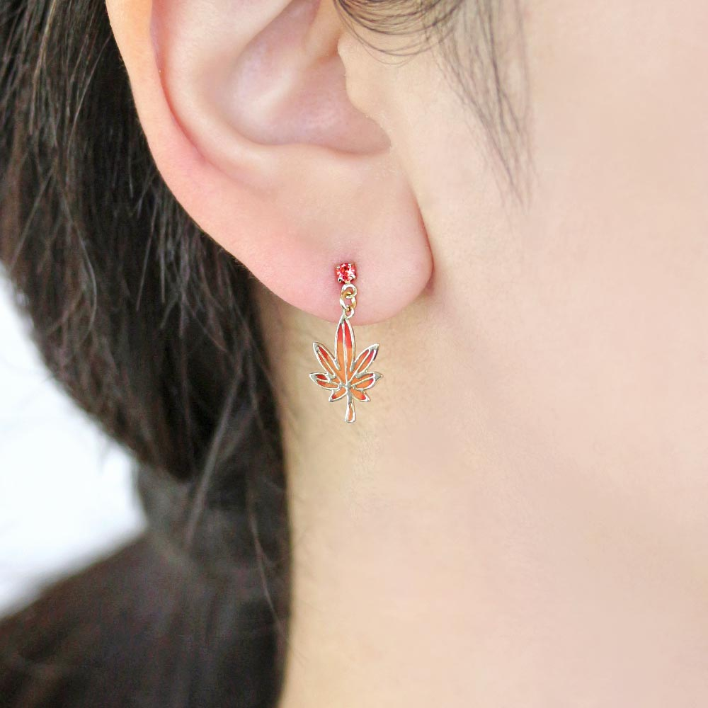 Momiji Leaf Drop Earrings - Osewaya