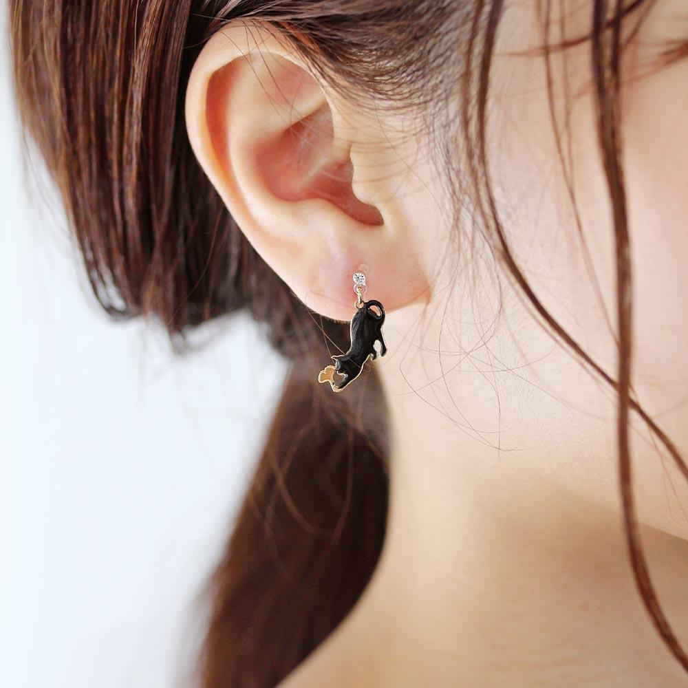 Ginkgo and Cat Invisible Clip On Earrings - Osewaya