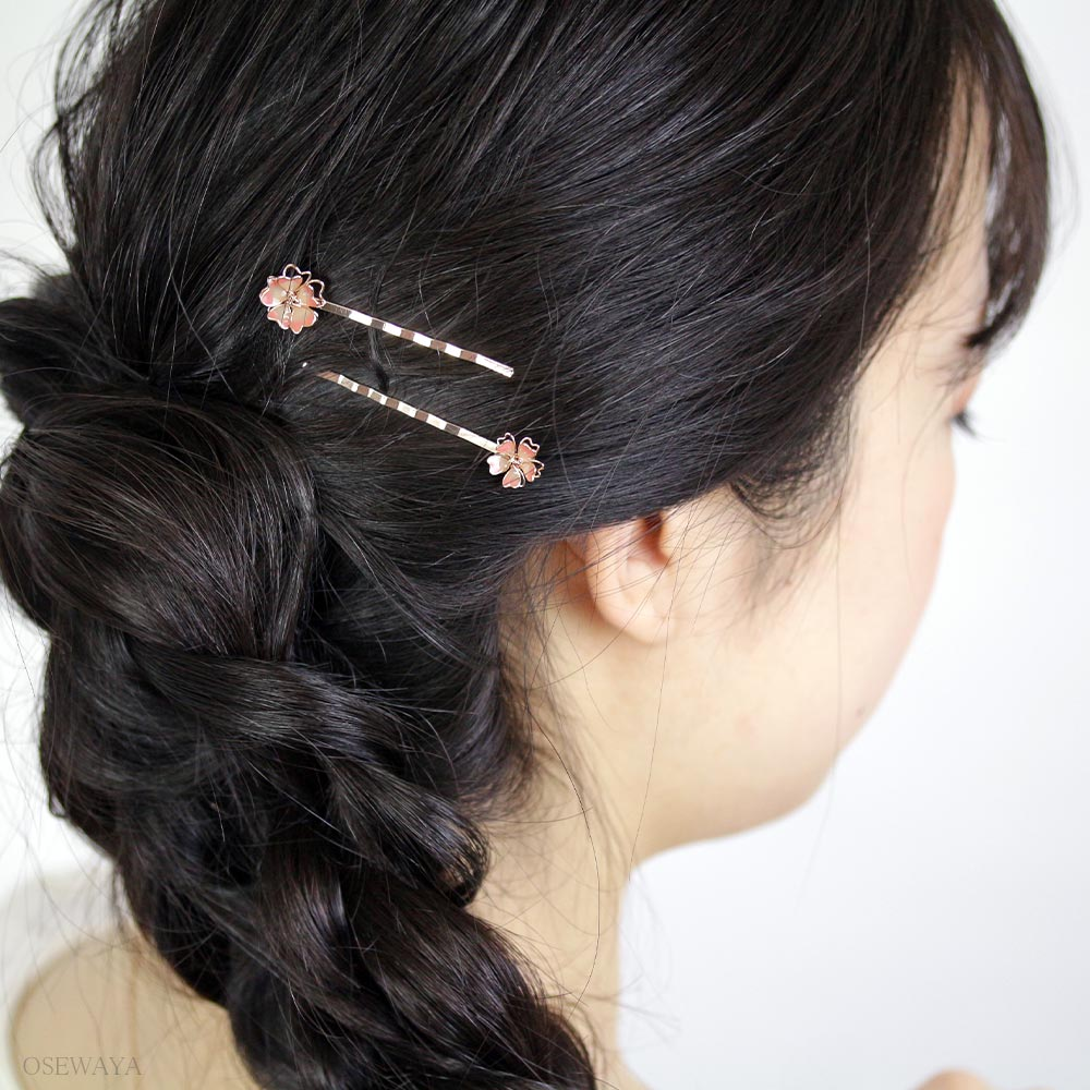 Pretty Cherry Blossoms Sakura Hair Pins set - Osewaya