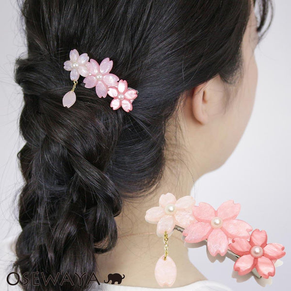 Sakura Cherry Blossoms Hair Clip