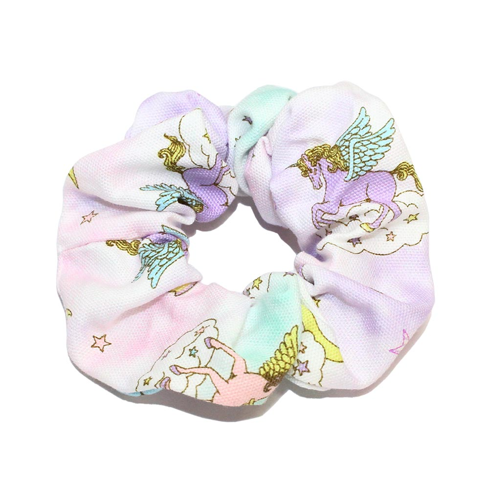 Unicorn Print Hair Scrunchie - Osewaya
