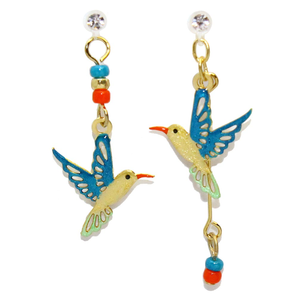 Hummingbird Invisible Clip On Earrings - Osewaya
