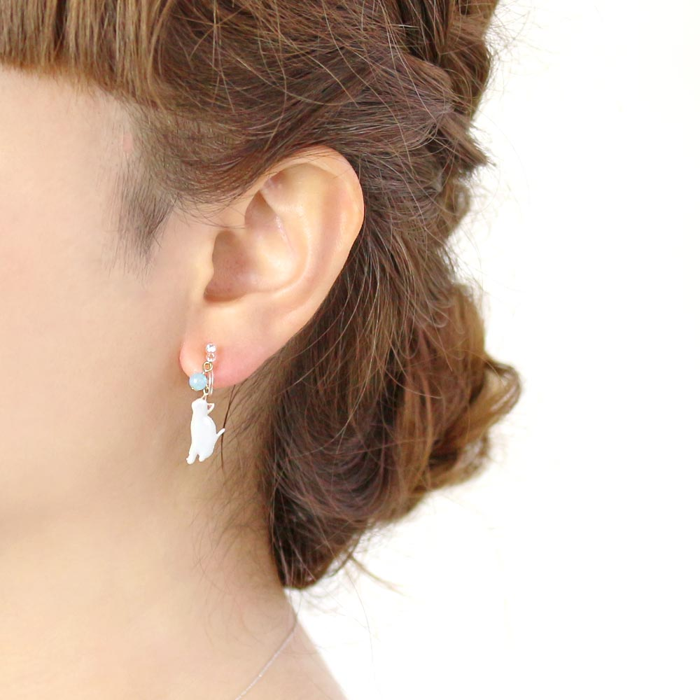 Cat and Jewel Invisible Clip On Earrings - Osewaya