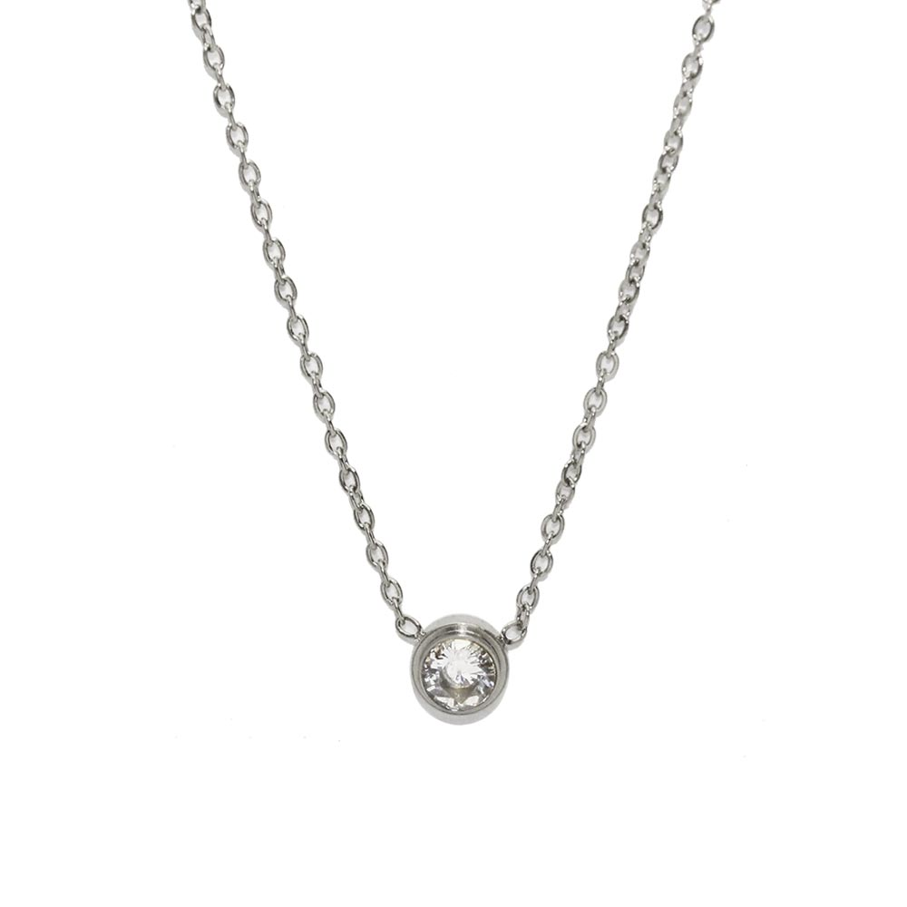Stainless Cubic Zirconia Necklace - Osewaya