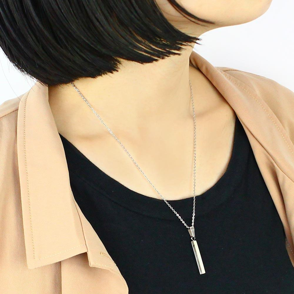 Stainless Stick Stripe Necklace - Osewaya