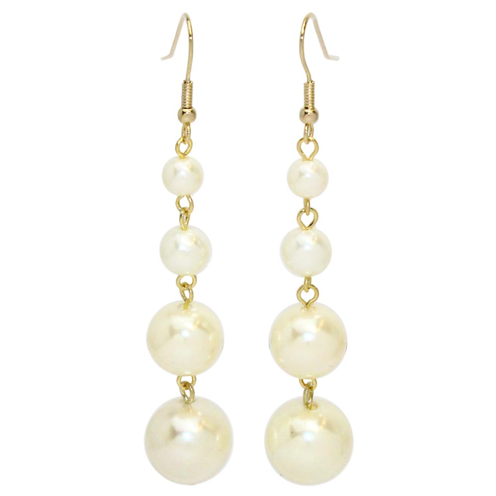 Pearl Chain Statement Earrings - Osewaya