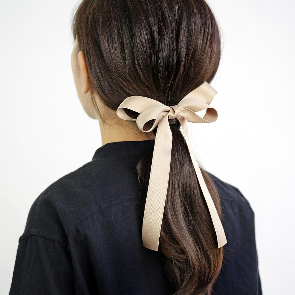 Satin Long Tail Bow Hair Tie