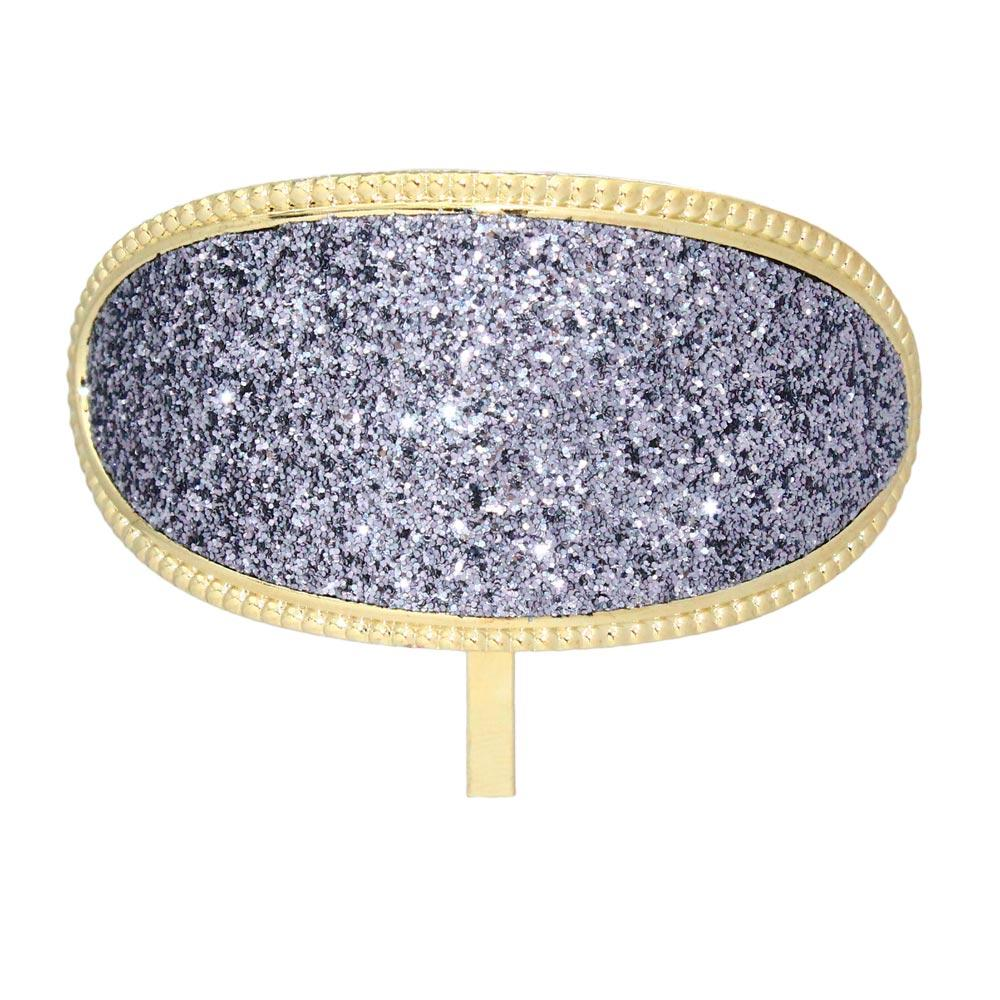 Oval Glitter Hair Hook - osewaya