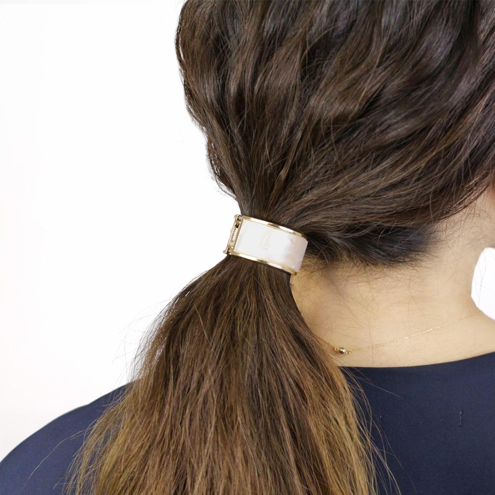 Marble Pattern Ponytail  Holder - Osewaya