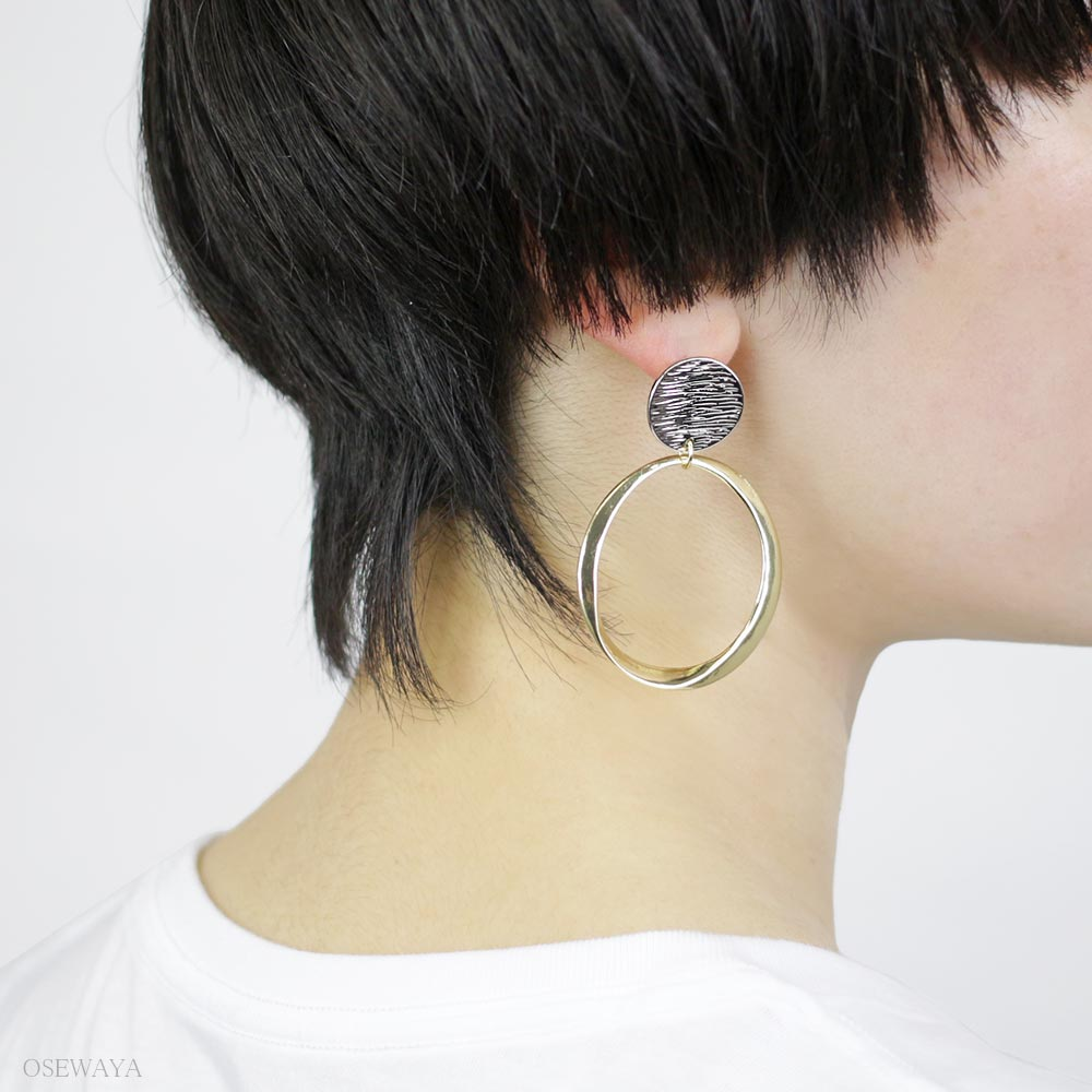 Asymmetrical Circle Earrings - Osewaya