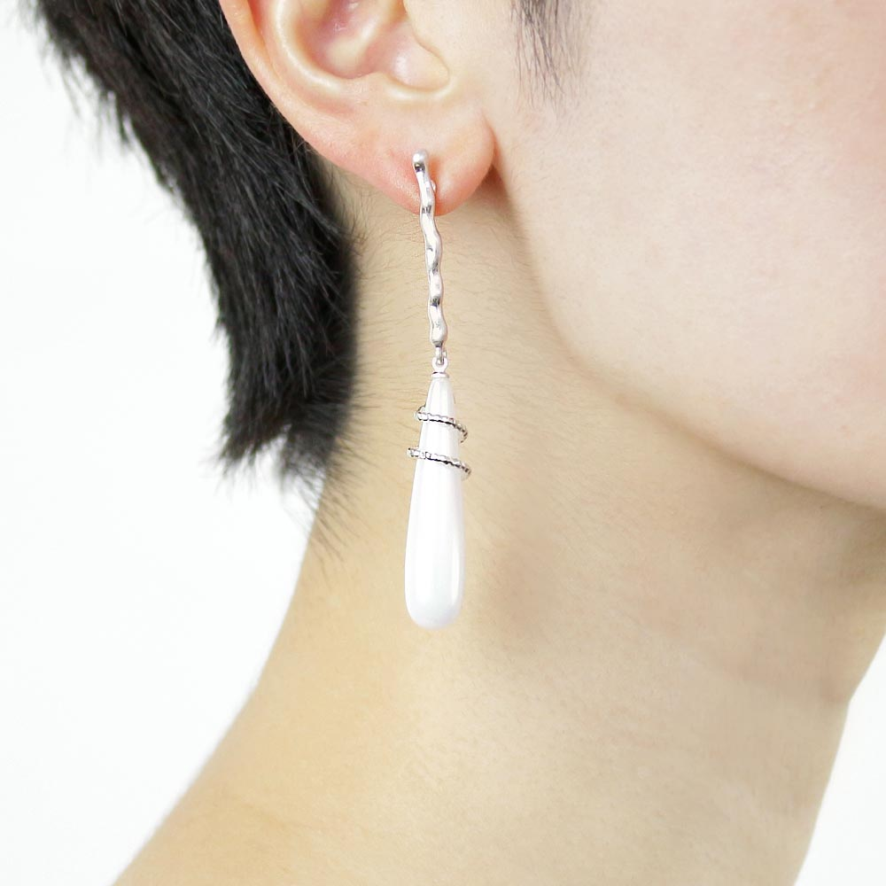 Aurora Pearl Long Dangle Icicle Earrings - Osewaya