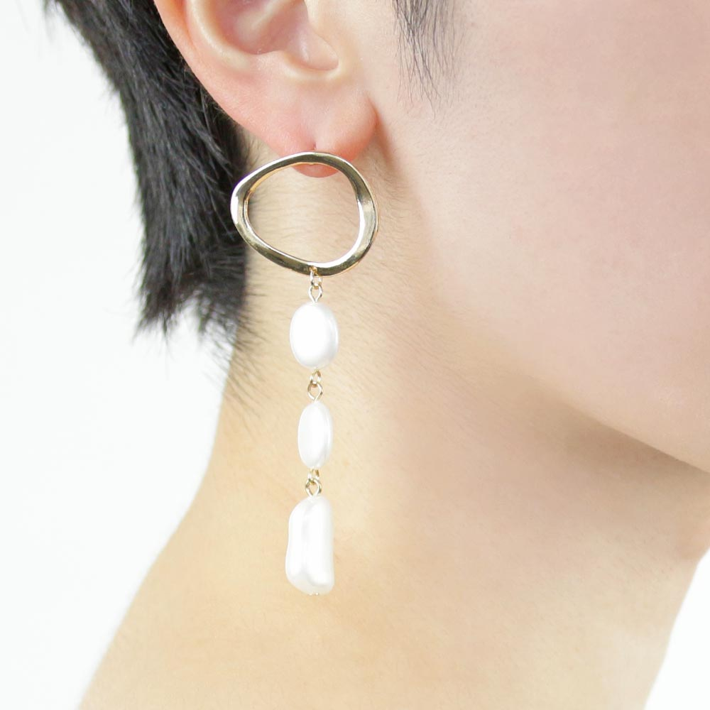 Triple Drop Aurora Pearl Earrings - Osewaya