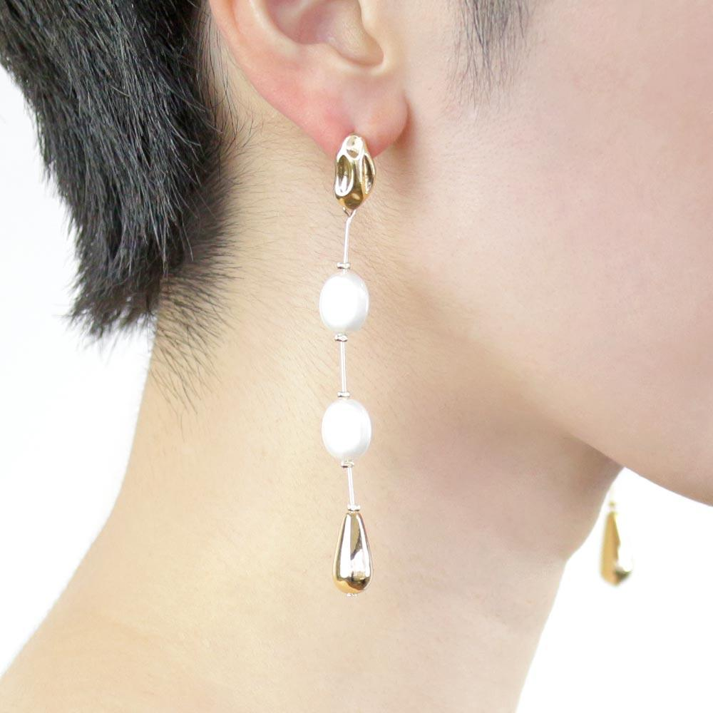 Aurora Pearl Rosary Earrings