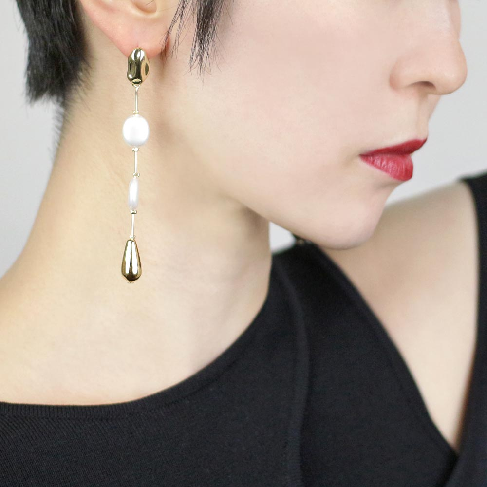 Aurora Pearl Rosary Earrings - Osewaya