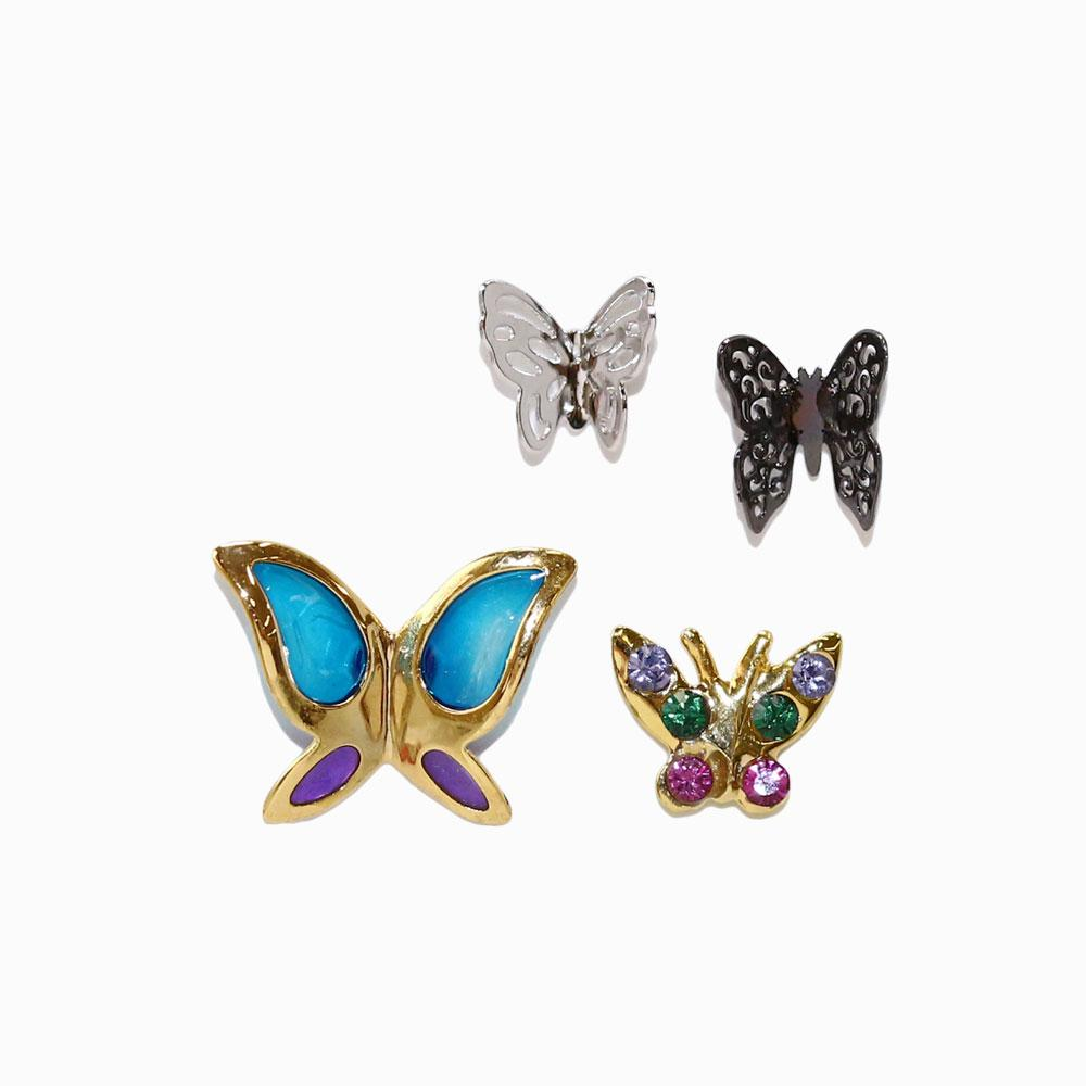 Multi Butterfly Earring Set -osewaya