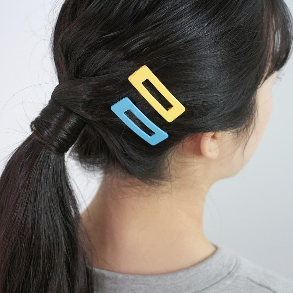 Matte Vivid Square Snap Hair Clip