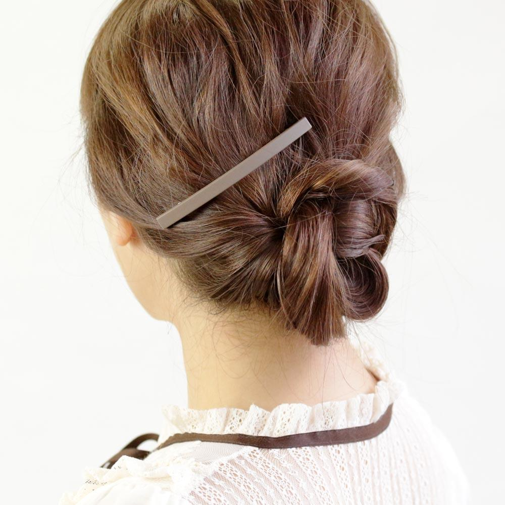 Dull Color Bar Hair Barrette - Osewaya