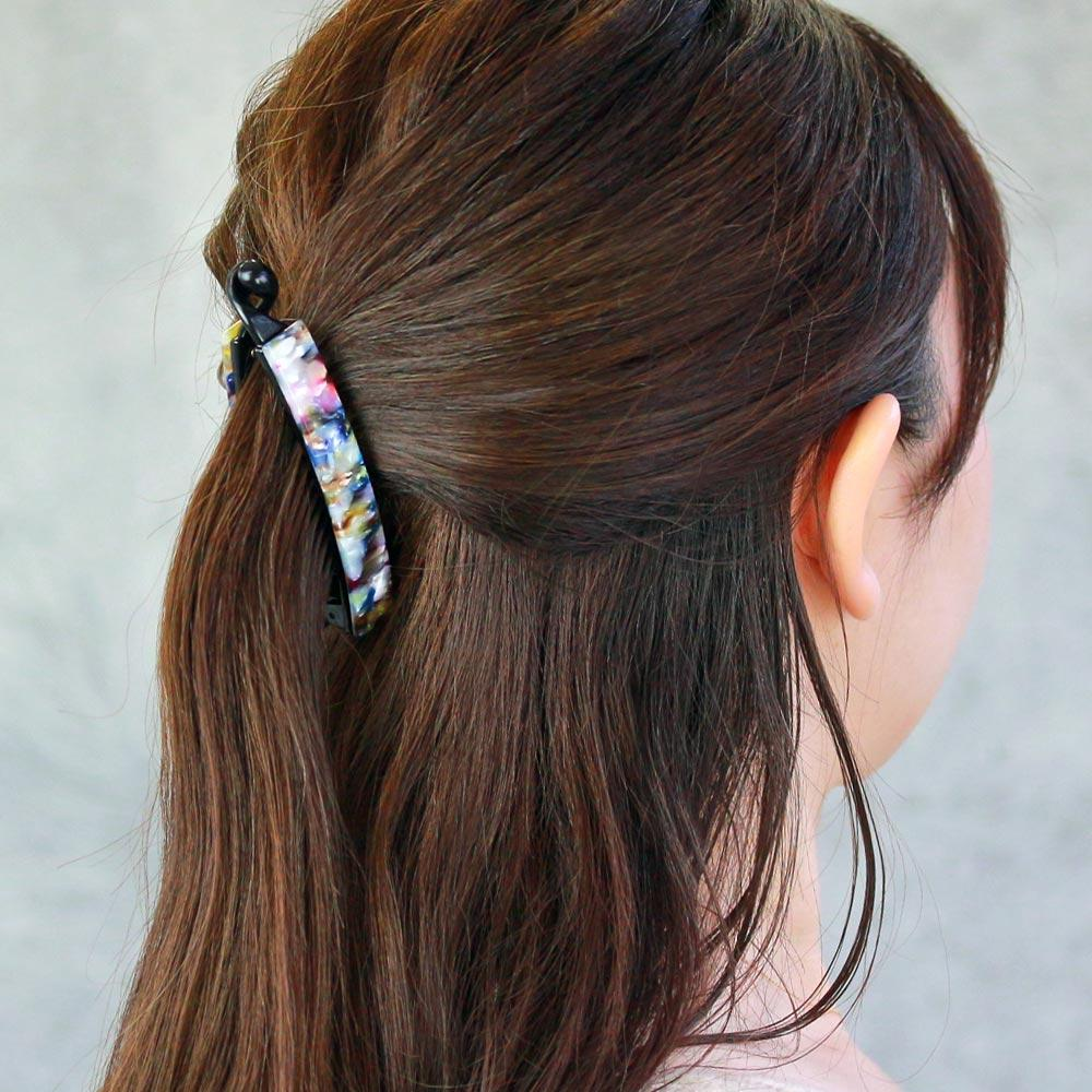Marble Acetate Banana Hair Clip
