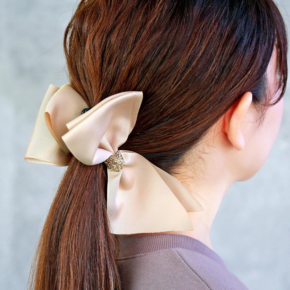 Large Grosgrain Bow Banana Clip