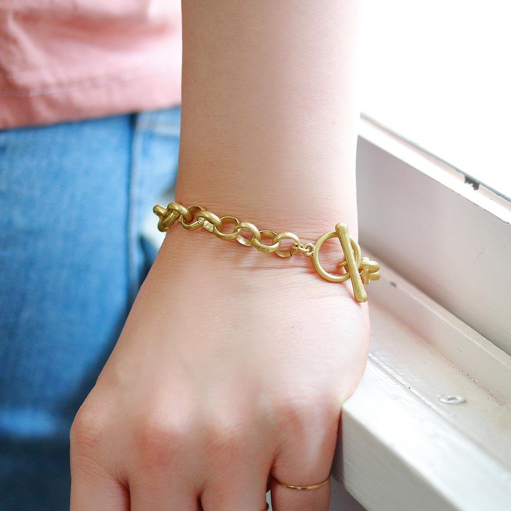 Chunky Cable Chain T Bar Bracelet