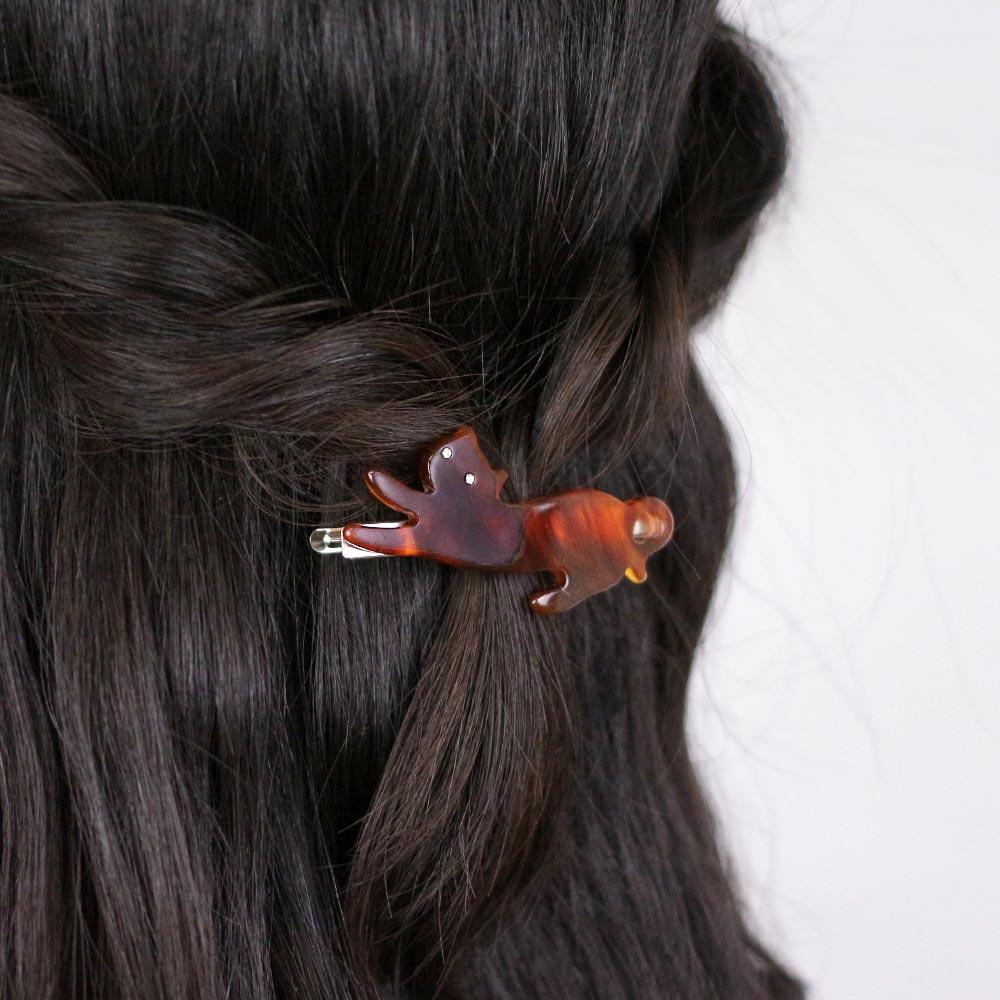 Cat Stretching Hair Clip