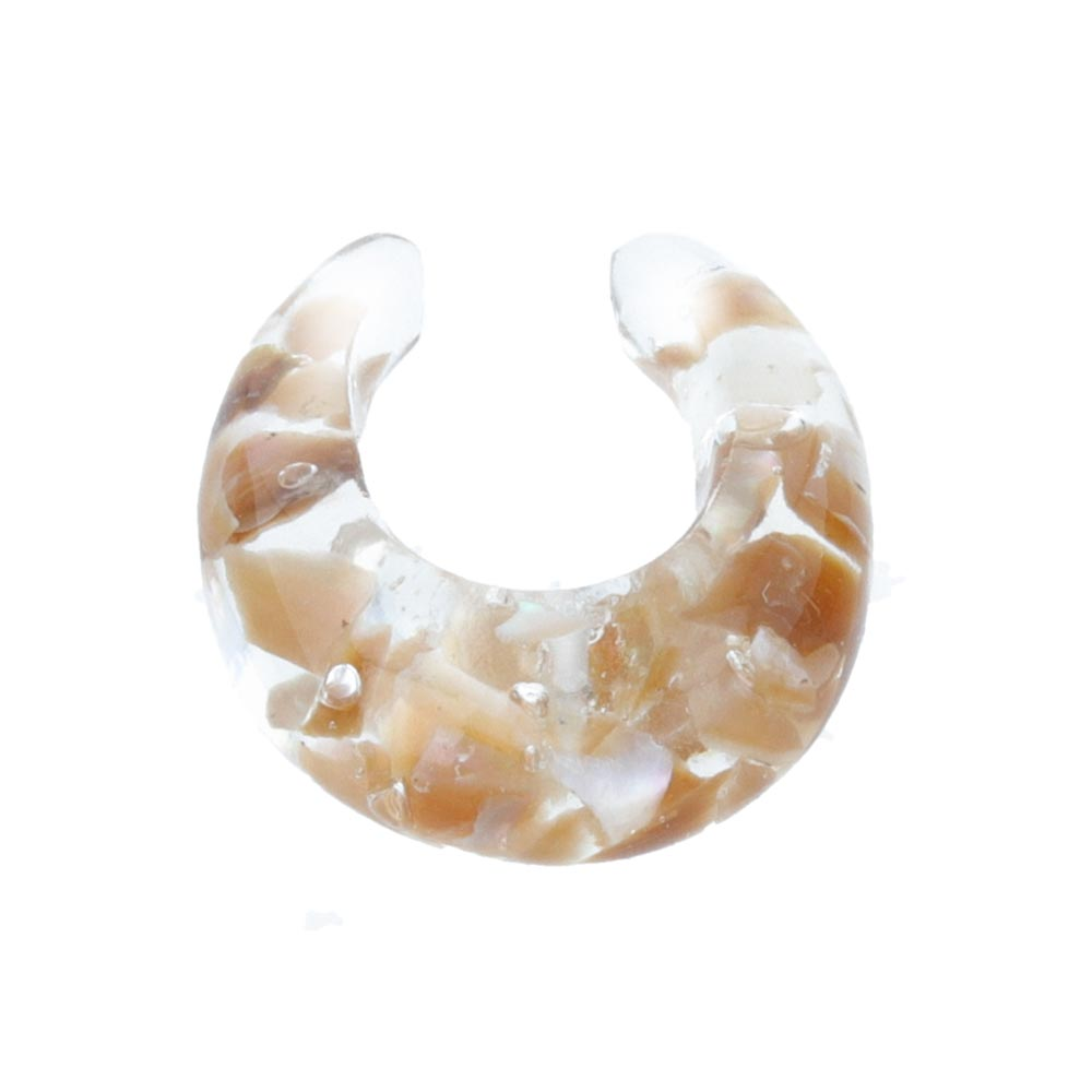 Crushed Shell Clear Ear Cuff - osewaya