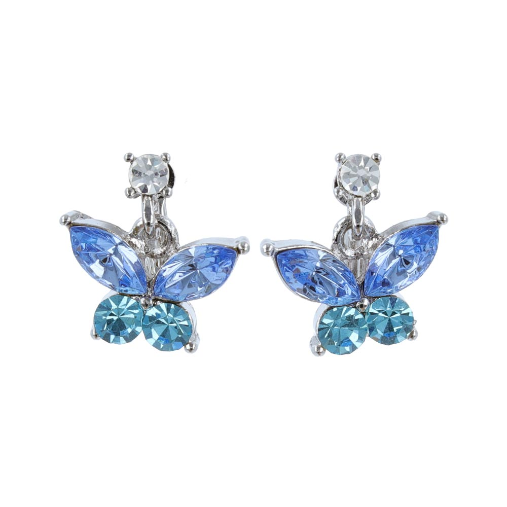 Beaded Butterfly Clip On Earrings - osewaya