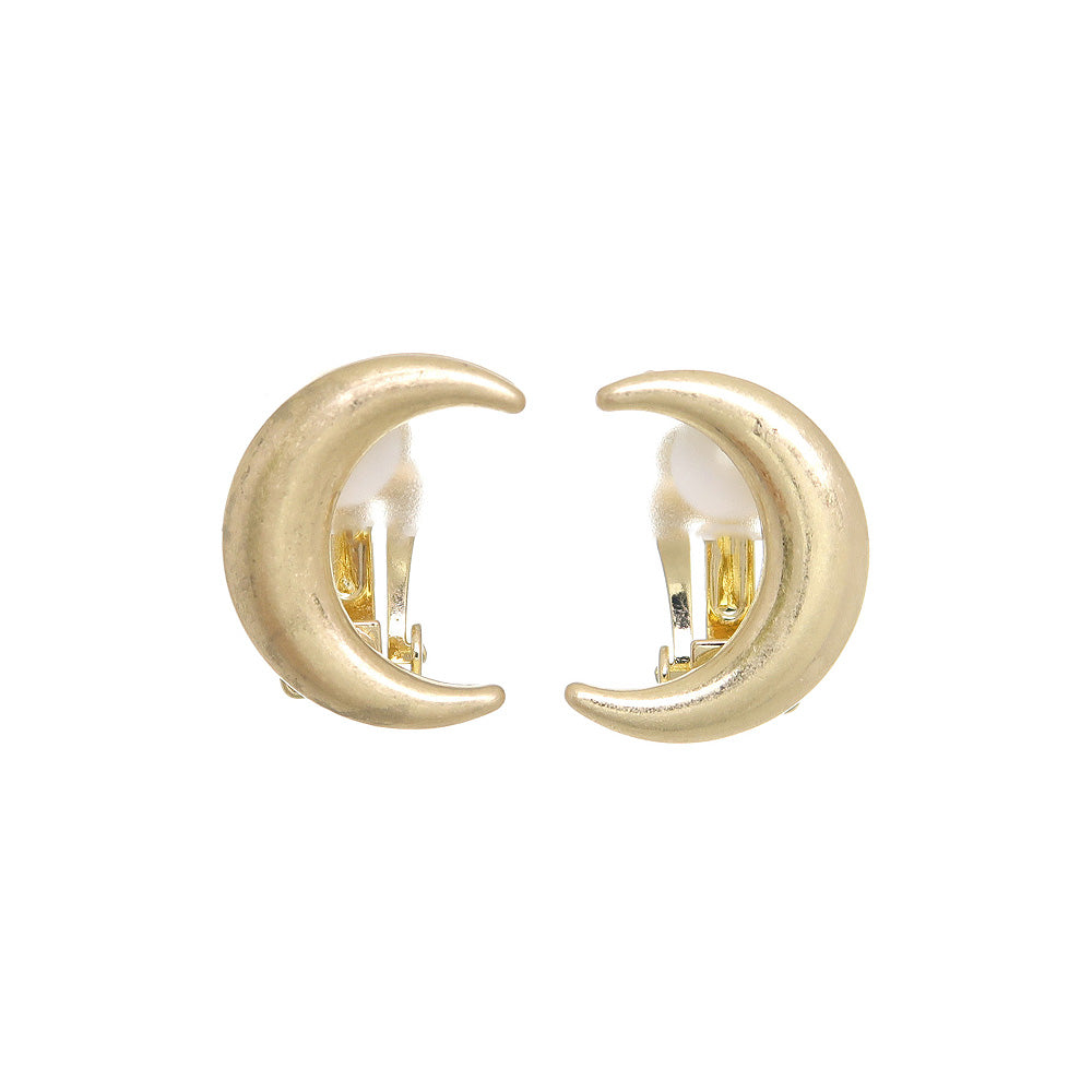 Crescent Moon Clip On Earrings - osewaya