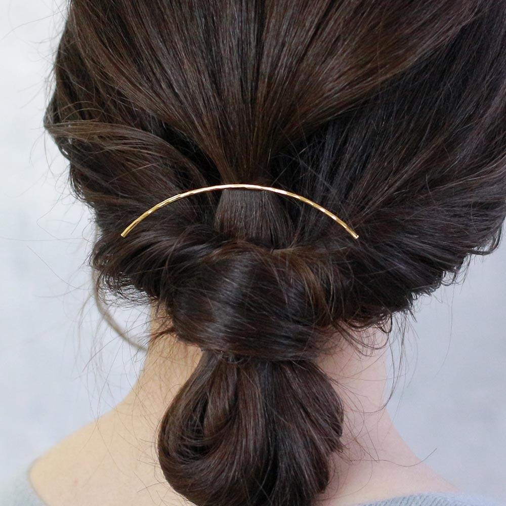 Chic Metalic Line Arch Hair Hook