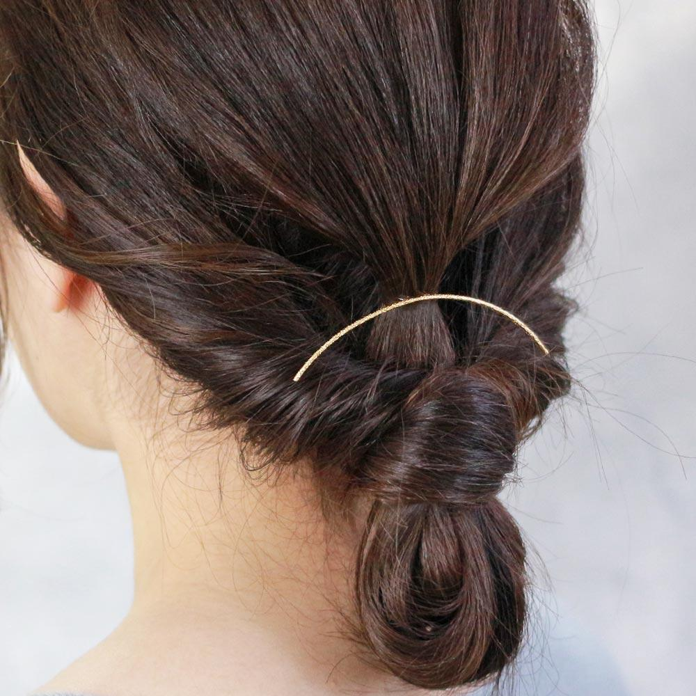 Chic Satin Finish Line Arch Hair Hook