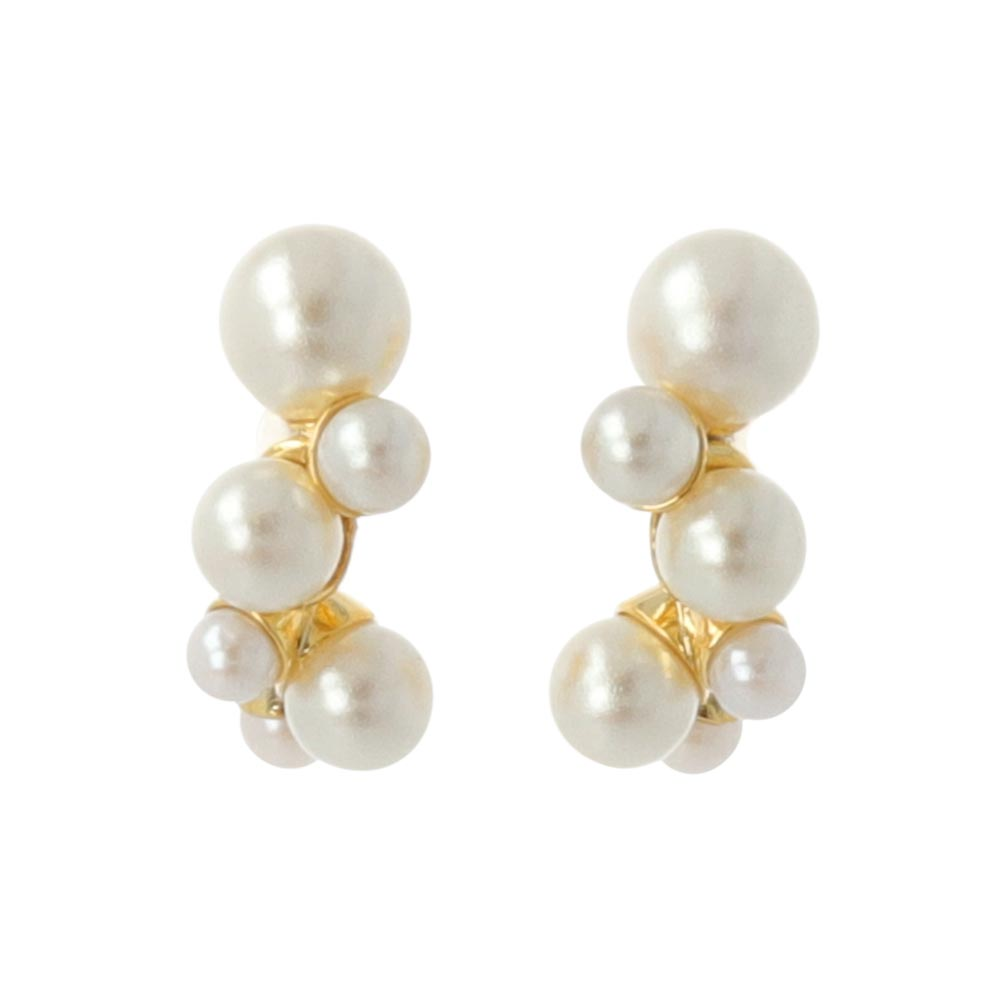 Bubble Pearl Invisible Clip On Earrings - osewaya