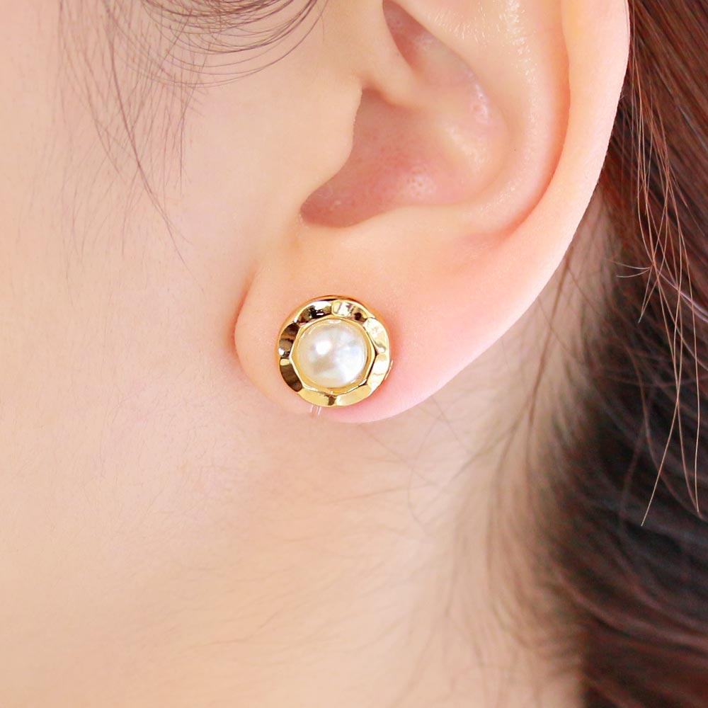 Pearl Cabochon Invisible Clip On Earrings