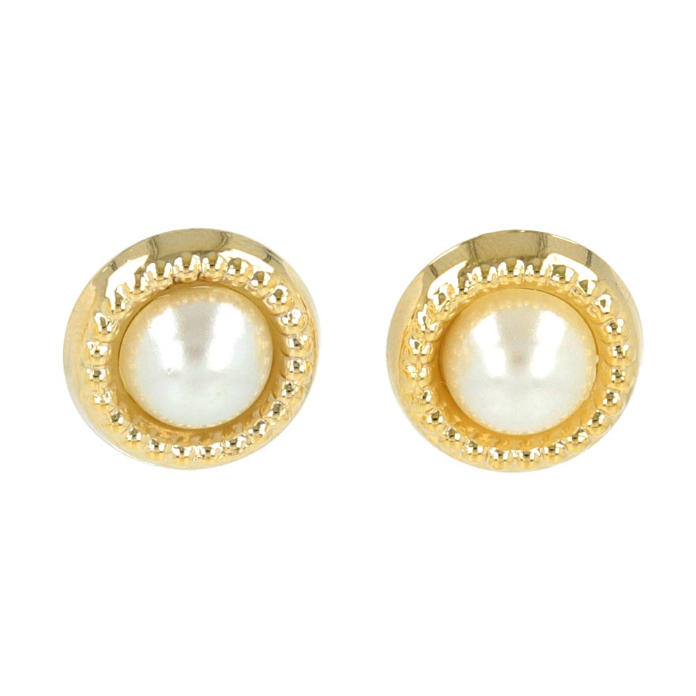 Pearl Cabochon Non Pierced Earrings - osewaya