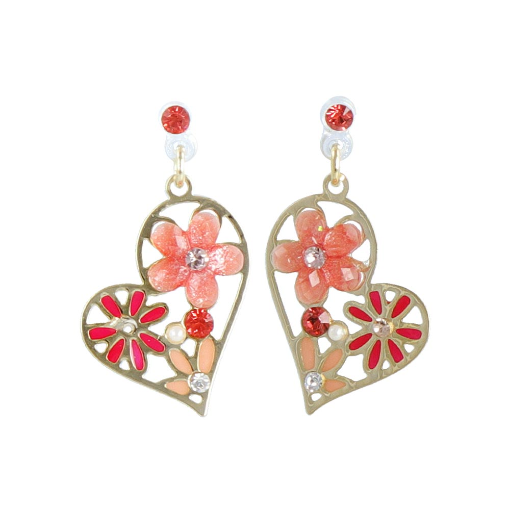 Flower Heart Non Pierced Earrings
